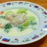 鶏肉とチンゲン菜の中華風クリーム煮