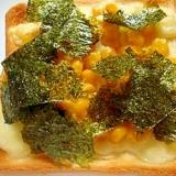 コーンと味付け海苔のとろーりチーズトースト