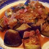 米茄子のソテー・オニオン&ベーコンソース