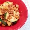 ズッキーニと挽き肉の味噌カレー炒め