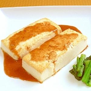 とうふステーキ☆ごまニンニクソース