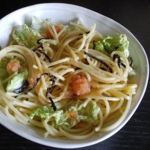 明太子と白菜のスパゲッティー