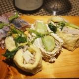 【高知食材】筍と空豆の蕎麦稲荷寿司