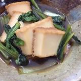 厚揚げと小松菜の甘め煮浸し