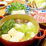 おろしポン酢で✿湯豆腐と豚しゃぶのお鍋