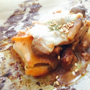 リメイク!ひき肉きのこカレー&チーズのせ春巻き焼き