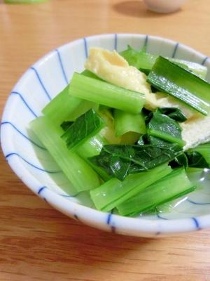 夏に冷たくてさっぱり☆小松菜と油揚げの煮びたし