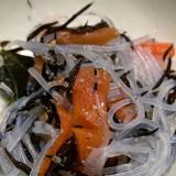 リメイク☆ひじきの煮物で春雨サラダ