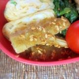 たたきごぼうのポン酢ゴマサラダ