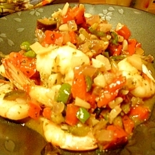 野菜★旨味たっぷりガーリックシュリンプ