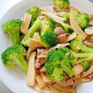 ブロッコリーとエリンギ豚肉の炒め物