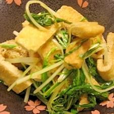 京のおばんざい☆水菜と油揚げの煮物