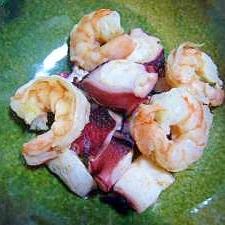 ◆◇◆ お弁当に♪ タコとエビの炒め物 ◆◇◆