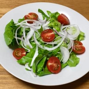 レタスと赤玉ねぎのサラダ