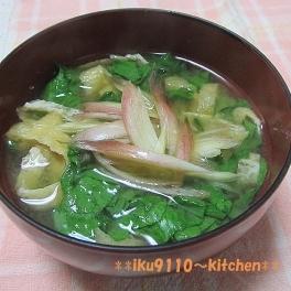 アスパラとレタスの簡単スープ