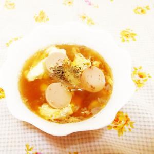 オリーブ風味♪玉葱のかきたまスープ