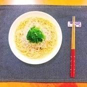 【混ぜるだけ】糖質0麺♡大葉としらすの和風パスタ