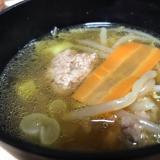 豚つみれのスープ
