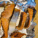 トースターで鮭の塩焼き