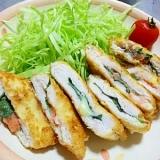 節約&ヘルシー【鶏ササミカツ】しそ・明太子・チーズ