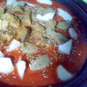 ごぼう玉ねぎダイストマトのサラダ