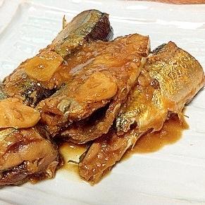 超簡単めちゃウマ秋刀魚のニンニクみそ煮