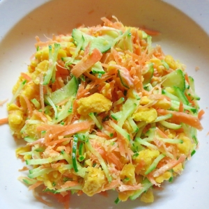 人参と胡瓜のさつま芋サラダ