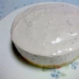 ブルーベリージャムの☆レアチーズケーキ