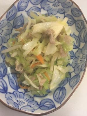 豚肉とキャベツの野菜炒め(^○^)☆