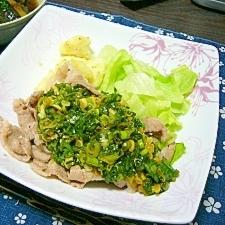 超簡単(/・ω・)/☆豚肉炒めさっぱりネギソース☆