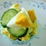 お弁当に!きゅうりとゆで卵のサラダ
