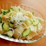 5分!臭みなしでイイ味❤白菜漬け利用のサラダ風♪