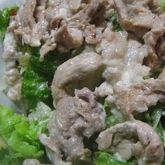 豚肉野菜サラダ