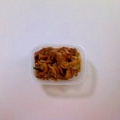 豚肉、エリンギ、長ねぎの炒めもの