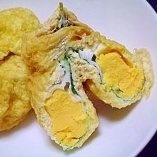卵と大葉の油あげの包み煮