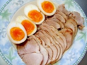 豚ももヘルシー煮豚・半熟煮玉子添え