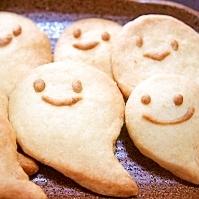ハロウィンに♪型無しおばけクッキー~(m~-~)m