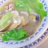 レタスで新鮮☆今が旬のアサリのスープ