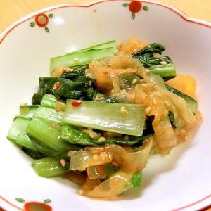 5分で完成!小松菜と中華クラゲの和え物