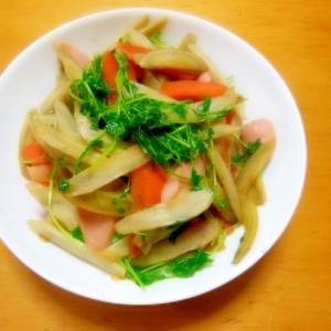 ごぼうと豆苗の炒め煮
