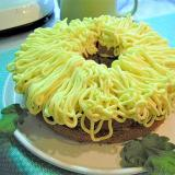 さつま芋クリームの大輪菊ケーキ♥