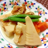常備の食材で☆高野豆腐と筍の煮物