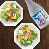 おつまみにぴったり☆鍛高譚ドレッシングの彩りサラダ