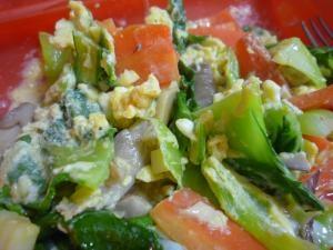 レンジで簡単!青梗菜の卵とじ