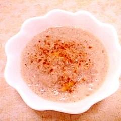 りんごの豆乳粥