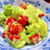 アボカドとミニトマトのサラダ