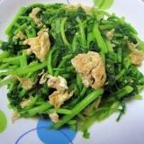 春菊とたまごの炒め物(茼蒿炒鶏蛋)