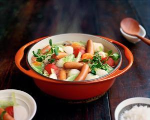 シャウエッセンの野菜たっぷりポトフ風鍋