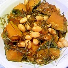 大豆とかぼちゃの切り昆布煮