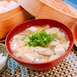 豆腐と椎茸と卵のお吸い物☆